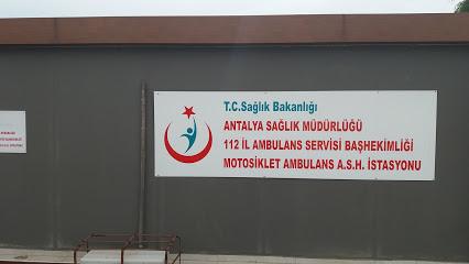 T.C. Sağlık Bakanlığı Antalya Sağlık Müdürlüğü 112 İl Ambulans Servisi Başhekimliği Motosiklet Ambulans A.S.H. İstasyonu